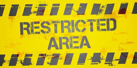 area restringida: ilustraci�n detallada de un fondo sucio de �rea restringida, vector eps10