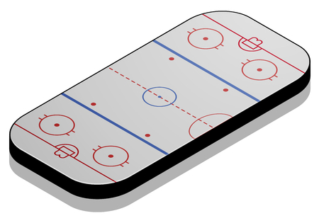 icehockey: detailed illustration of a Icehockey field with isometric perspective, eps10 vector