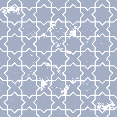 arabisch patroon: detailed illustration of a seamless geometric arabic pattern with grunge elements, eps10 vector