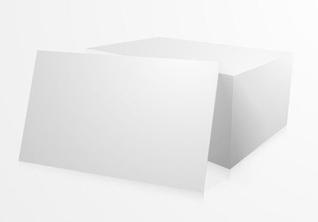 businesscard: detailed illustration of a blank stack of business cards,