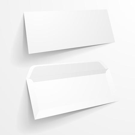 envelopes: detailed illustration of a blank envelope mockup templates, Illustration