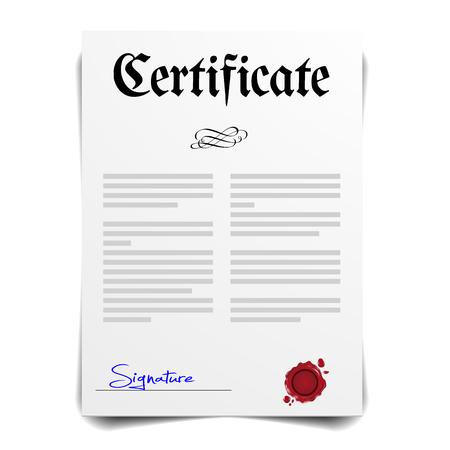 doctorate: detailed illustration of a Certificate Letter,