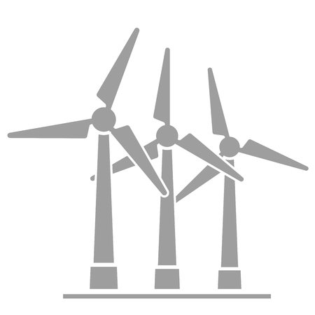 windpower: minimalistic illustration of wind generators,   vector