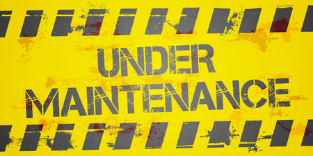 construction background: detailed illustration of a grungy Under Maintanance Construction background,   vector