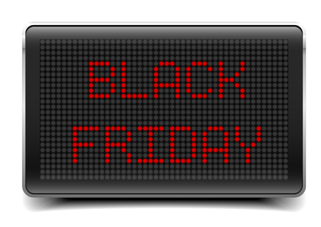 eletrical: detailed illustration of a LED Panel with Black Friday text,   vector