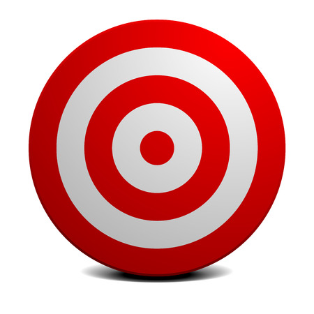 detailed illustration of an empty red and white target,   vector Illustration