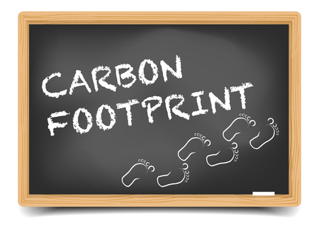 carbon footprint: detailed illustration of a blackboard with Carbon Footprint text, eps10 vector, gradient mesh included