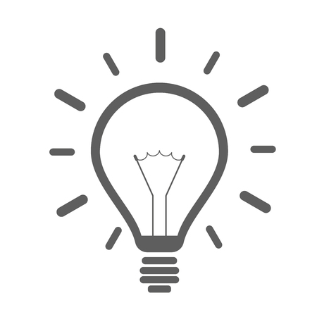 invent clever: minimalistic illustration of a lightbulb, eps10 vector