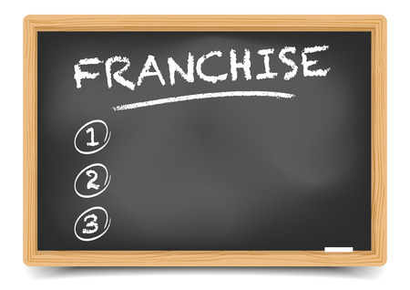 franchise: detailed illustration of a blackboard with an empty Franchise List