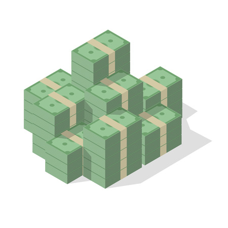 pile of cash: minimalistic illustration of a pile of cash