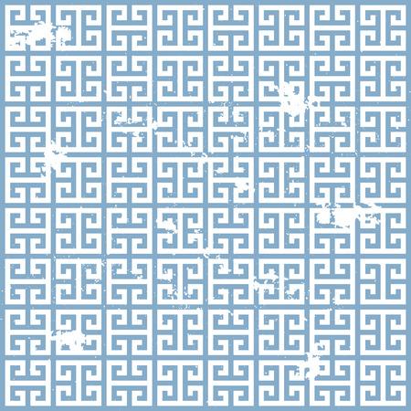 illustratie van een grungy oude Griekse patroon Vector Illustratie