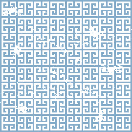fret: illustration of a grungy ancient greek pattern