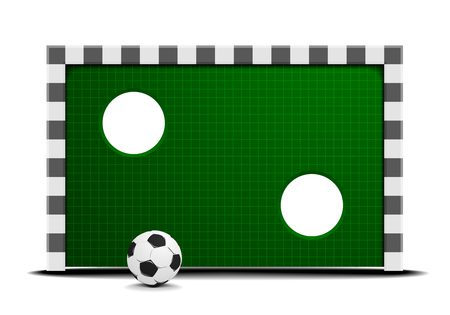 detailed illustration of a soccer training wall with a ball in front