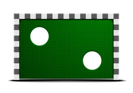 defensive: detailed illustration of a soccer training wall Illustration