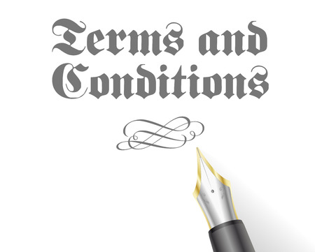tenancy: illustration of an Terms and Conditions Letter with fountain pen