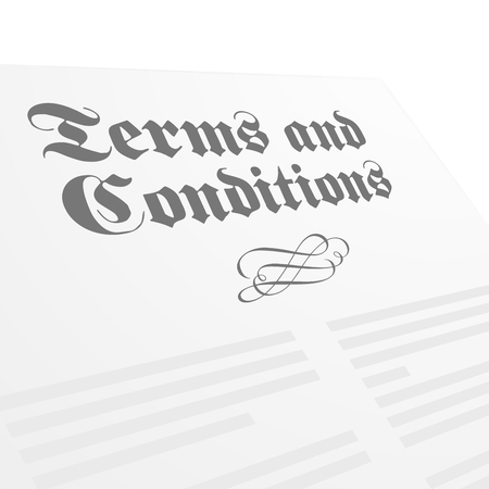 signing agent: detailed illustration of a Terms and Conditions letter Illustration
