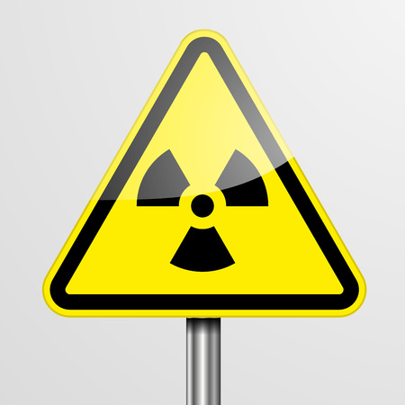 emanation: detailed illustration of a yellow Radiation warning sign Illustration