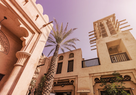 old houses: typical historic arabian buildings in the sun