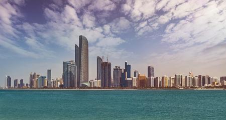 Cityscape of Abu Dhabi, capital of the United Arab Emirates with around 1 million inhabitants