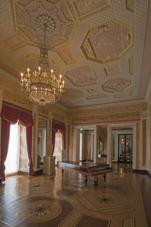 liszt: WEIMAR, GERMANY - APRIL 17, 2014: chamber next to the ballroom with a piano where famous musician Franz Liszt played. Stadtschloss (city castle) of Weimar, Thuringia, Germany
