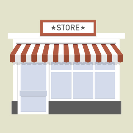 store front: minimalistic illustration of a store front Illustration
