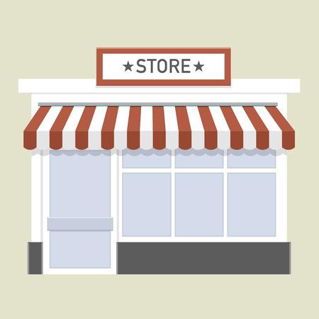 shopfront: minimalistic illustration of a store front Illustration