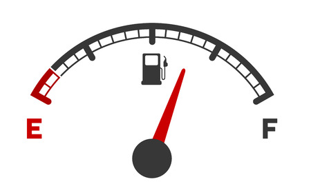 kilometer: illustration of a motor gas gauge Illustration