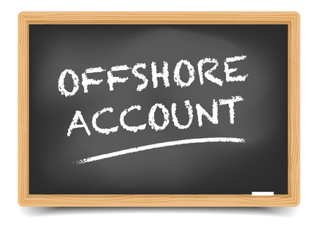 studying classroom: detailed illustration of a blackboard with Offshore Account,  gradient mesh included Illustration