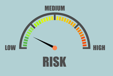 assess: detailed illustration of a risk meter Illustration