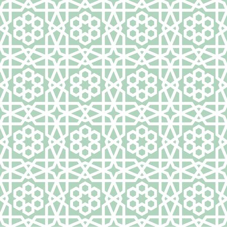 gedetailleerde illustratie van een naadloze geometrische Arabisch patroon, eps10 vector