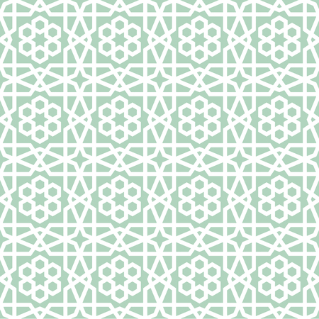 detailed illustration of a seamless geometric arabic pattern, eps10 vector
