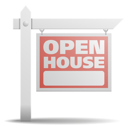 detailed illustration of a Open House real estate sign