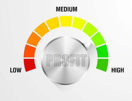 detailed illustration of a profit meter