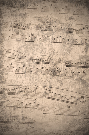 antiqued: vintage music notes with grungy texture