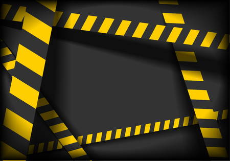 cordoned: detailed illustration of a industrial danger lines background