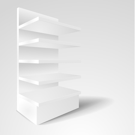 retail display: detailed illustration of a blank exhibition rack mockup, eps10 vector