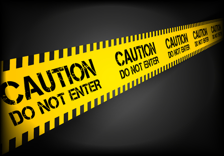 cordoned: detailed illustration of a caution do not enter line background, eps10 vector
