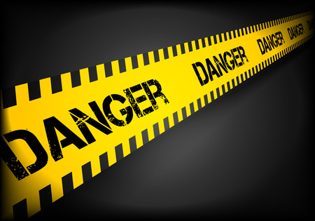cordon: detailed illustration of a Caution line background, eps10 vector Illustration