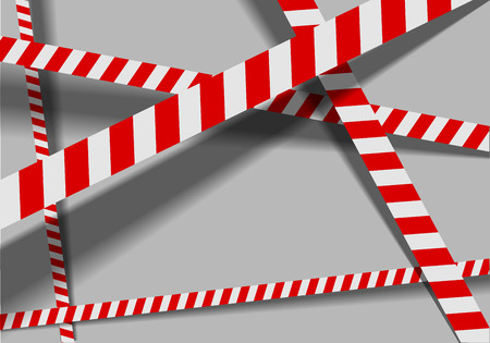 cordoned: detailed illustration of a red white striped danger lines background, eps10 vector Illustration