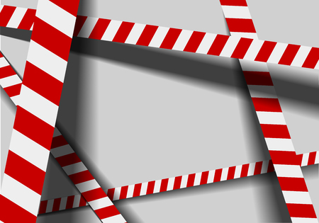 cordoned: detailed illustration of a red white industrial danger lines background, eps10 vector