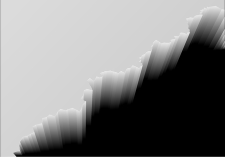 detailed illustration of a cliff edge with dark abyss, eps10 vector Illustration