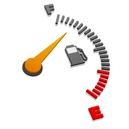 detailed illustration of a 3D gas gauge in perspective view, eps10 vector Illustration