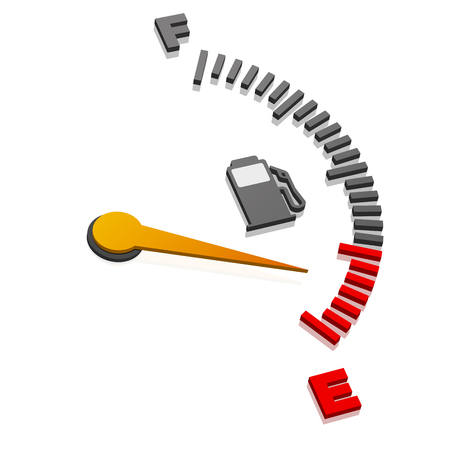 coolant: detailed illustration of a 3D gas gauge in perspective view, eps10 vector Illustration