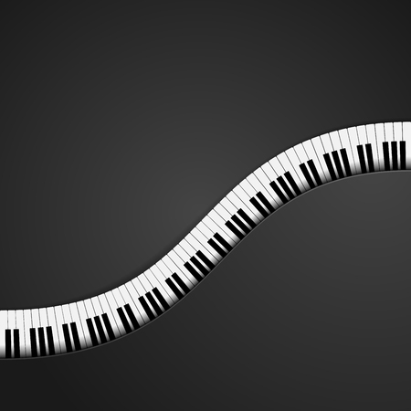 fingerboard: detailed illustration of a piano keys background, eps10 vector