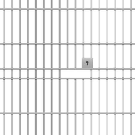detailed illustration of a prison bar background, eps10 vector