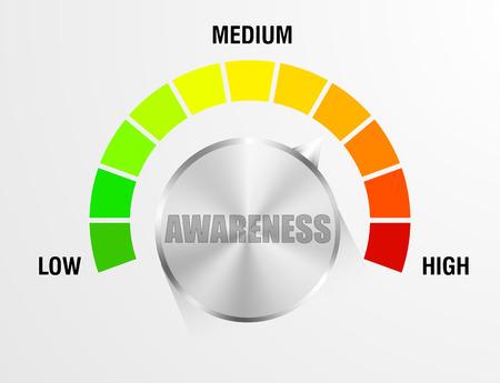detaillierte Darstellung eines Bewusstseins Meter, eps10 Vektor