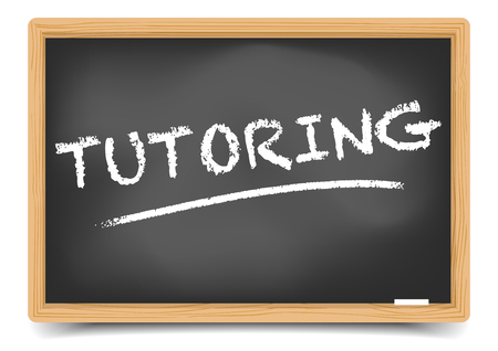 school class: detailed illustration of a blackboard with Tutoring text, eps10 vector, gradient mesh included