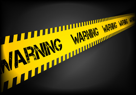 ribbon: detailed illustration of a Warning lines