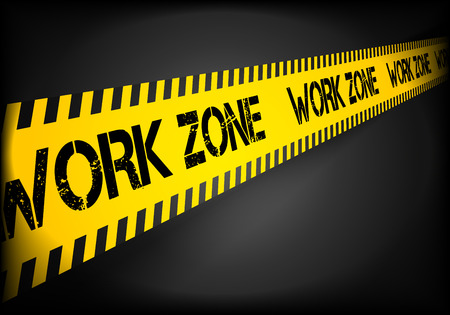 cordoned: detailed illustration of a Work zone danger lines.