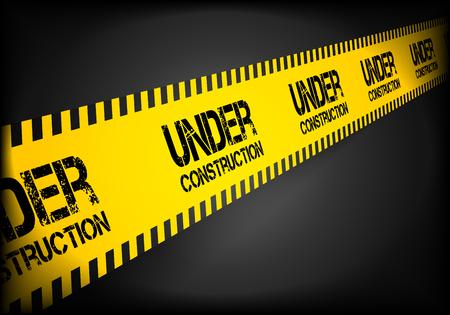 detailed illustration of a Under Construction danger lines.